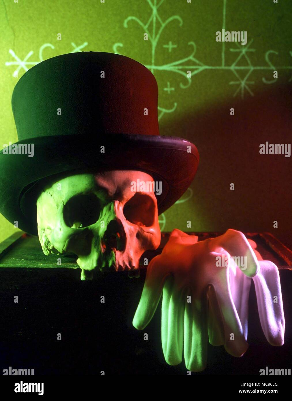 Voodoo The Symbols Of The Voodoo Loa Baron Samedi The Top Hat
