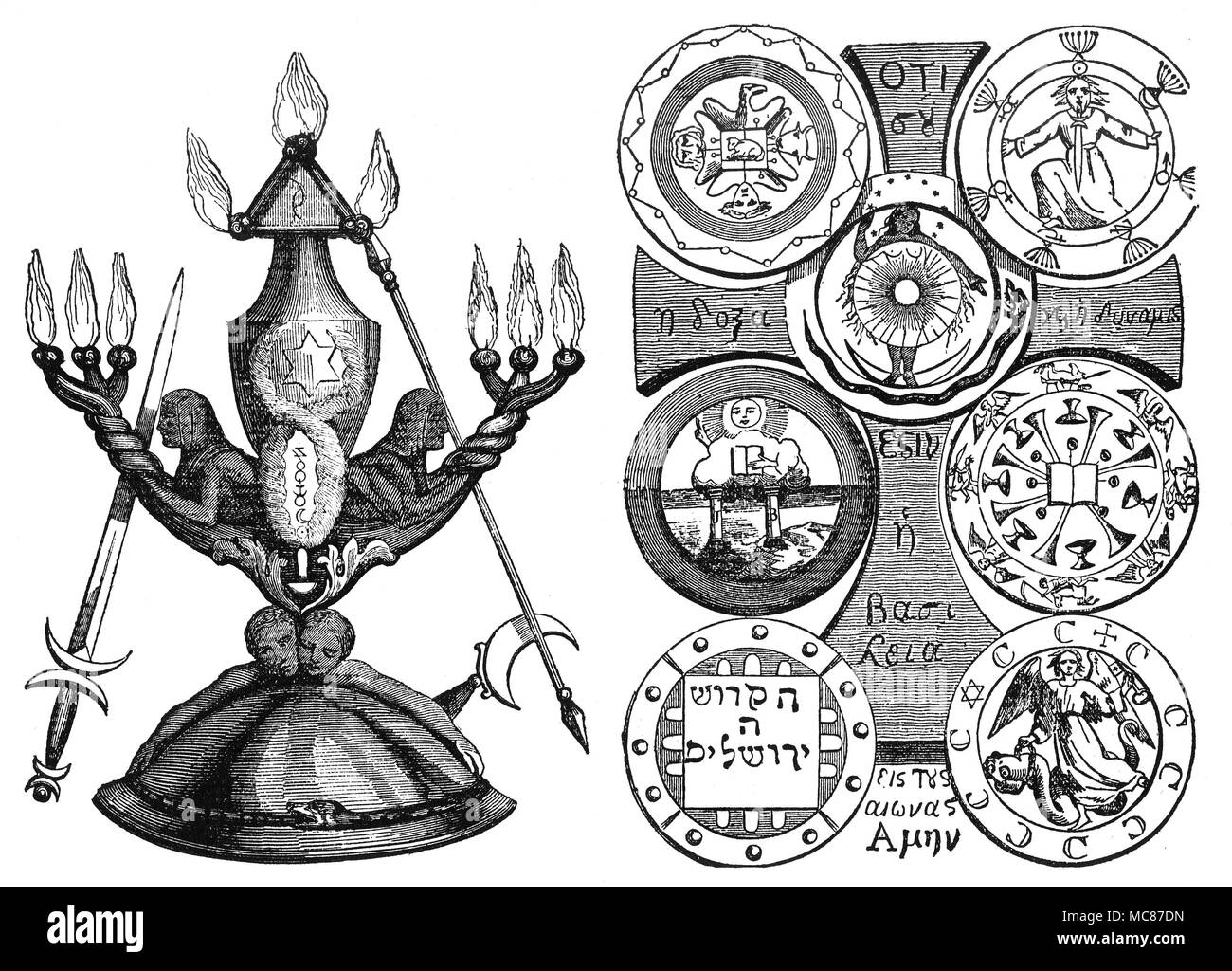Magic Symbols Magic Instruments Seven Seals Liphas Lvi The
