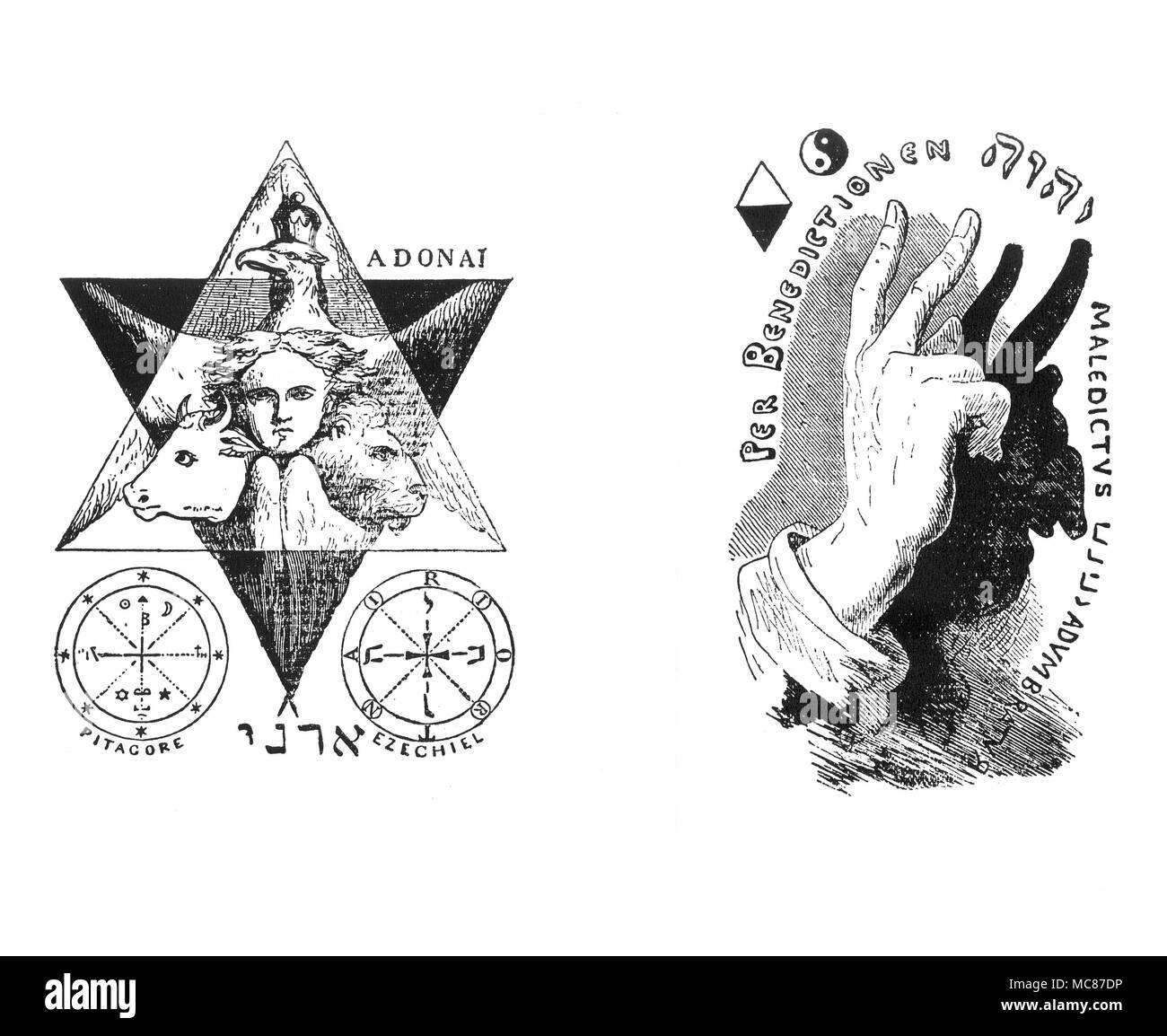 Magic Symbols Evangelists Sacerdotal Hand Liphas Lvi The