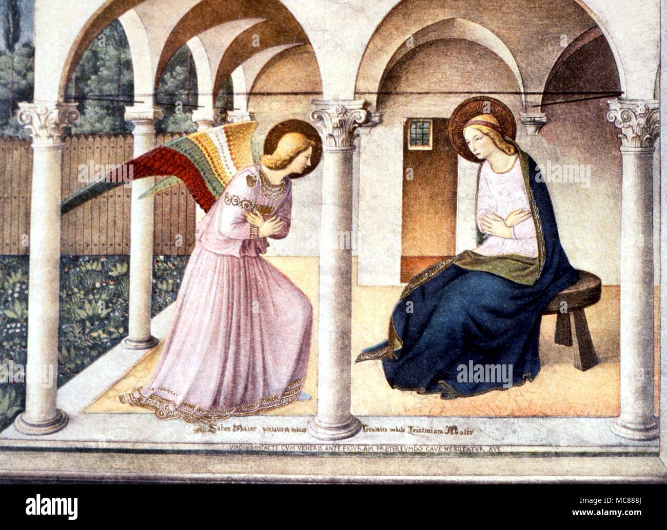 CHRISTIAN - Annunciation The San Marco fresco (Florence) by Fra ...