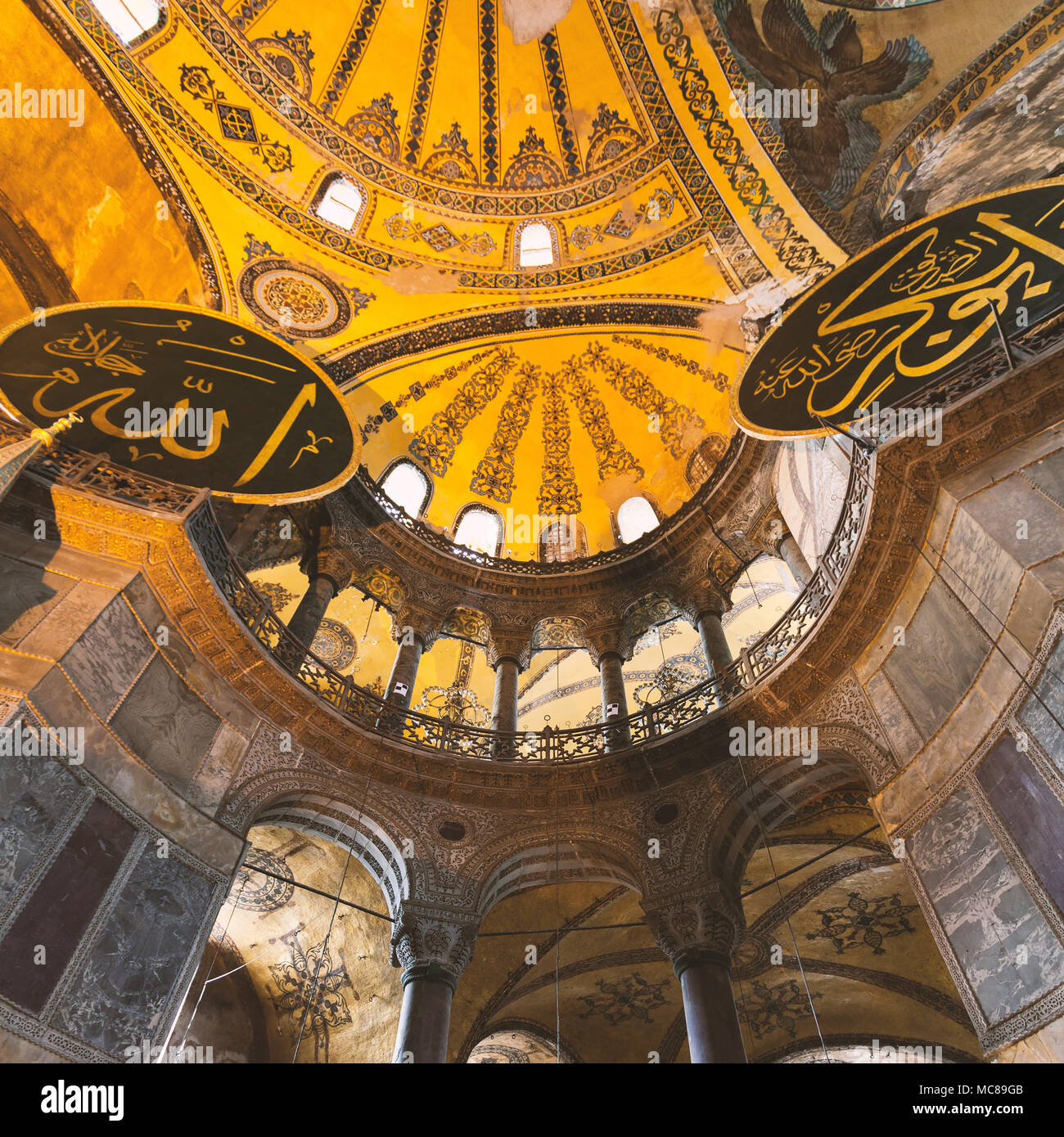 Hagia Sophia Interior At Istanbul Turkey   Architecture Background
