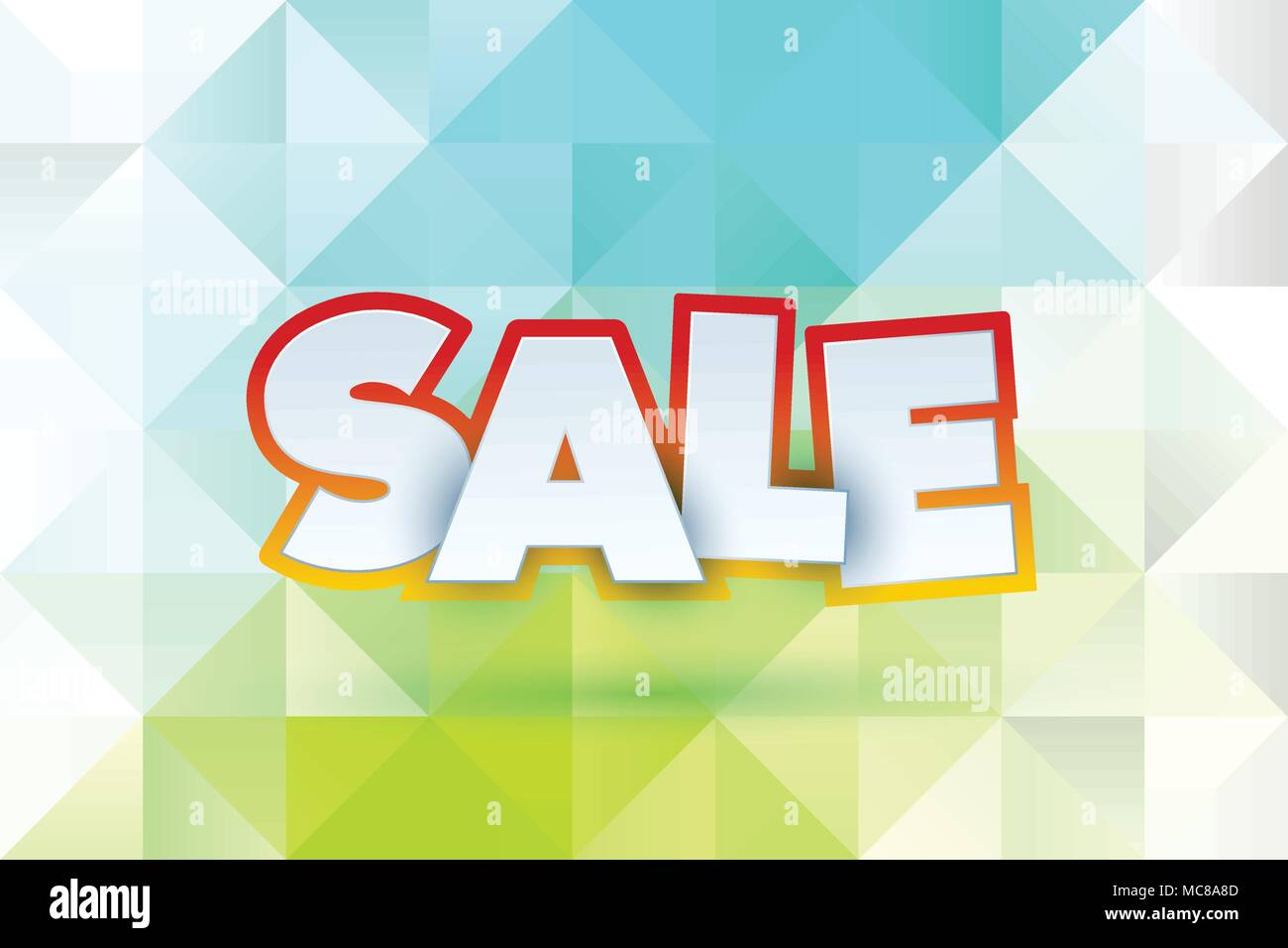 Sale abstract banner template design on soft polygonal elegant ...