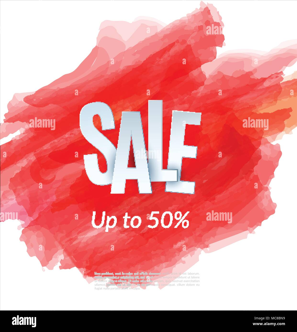 27 Cheap Design Ideas Offering: Sale Artistic Banner Template Design On Red Sketch