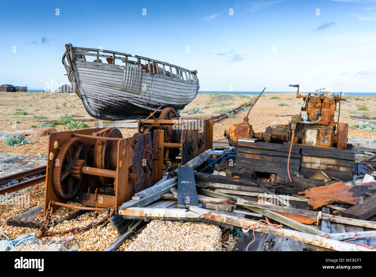 Fishing Boat  Dungeness - Stock Image