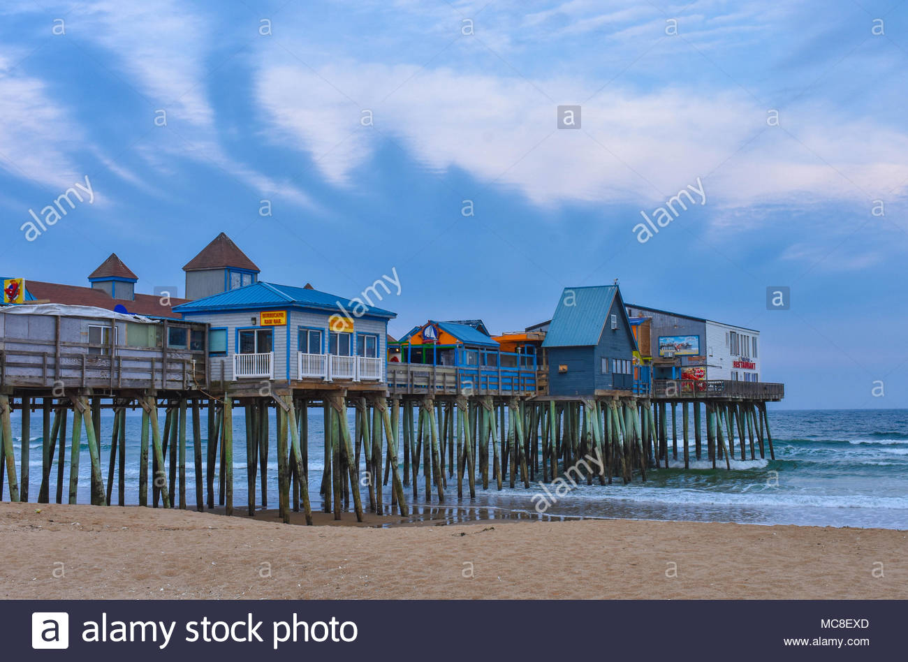 The Pier at Old Orchard Beach (OOB), Maine - Stock Image