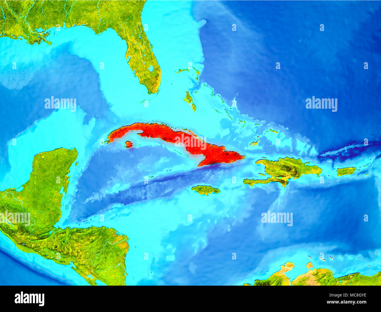 Map cuba stock photos map cuba stock images page 7 alamy cuba highlighted in red on planet earth 3d illustration elements of this image furnished gumiabroncs Image collections