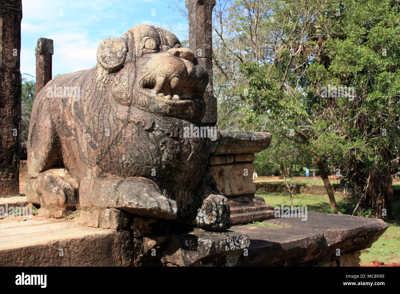 Polonnaruwa, a World Heritage Site in Sri Lanka, is an ancient city and the former capital of the Kingdom of Polonnaruwa. - Stock Image