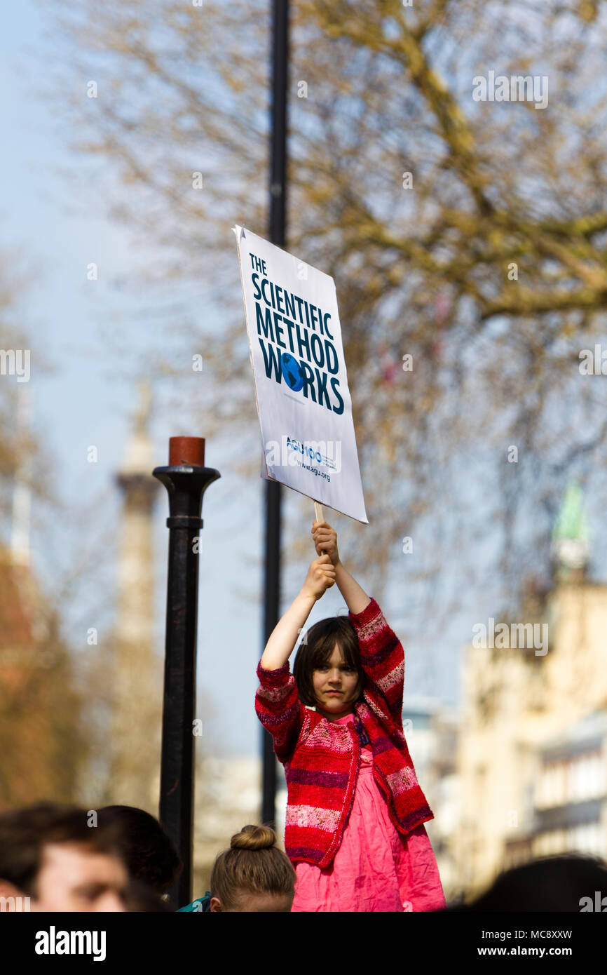 March for Science, London, UK.  14 April 2018. Stock Photo