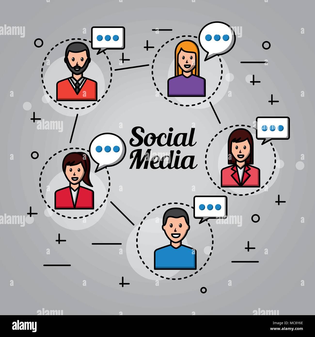 people social media Stock Vector