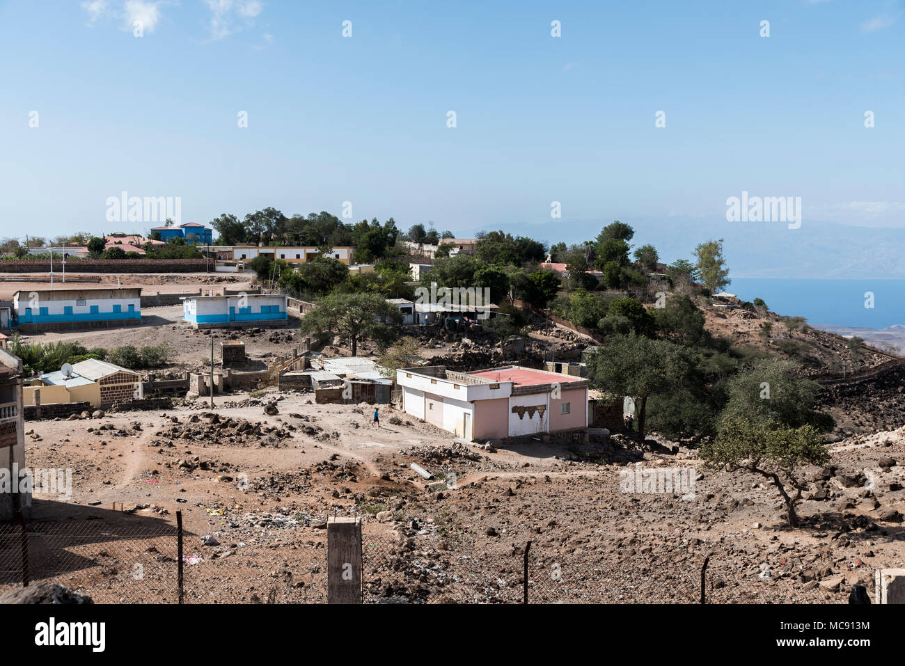 View of hill station Arta City, Djibouti - East Africa - Stock Image