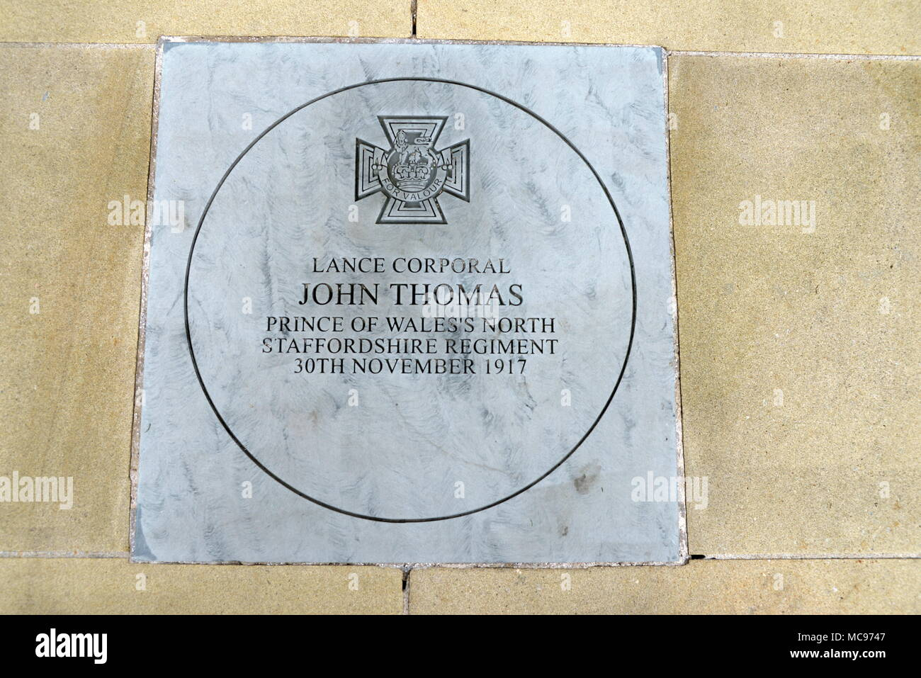 Victoria Cross memorial - Stock Image