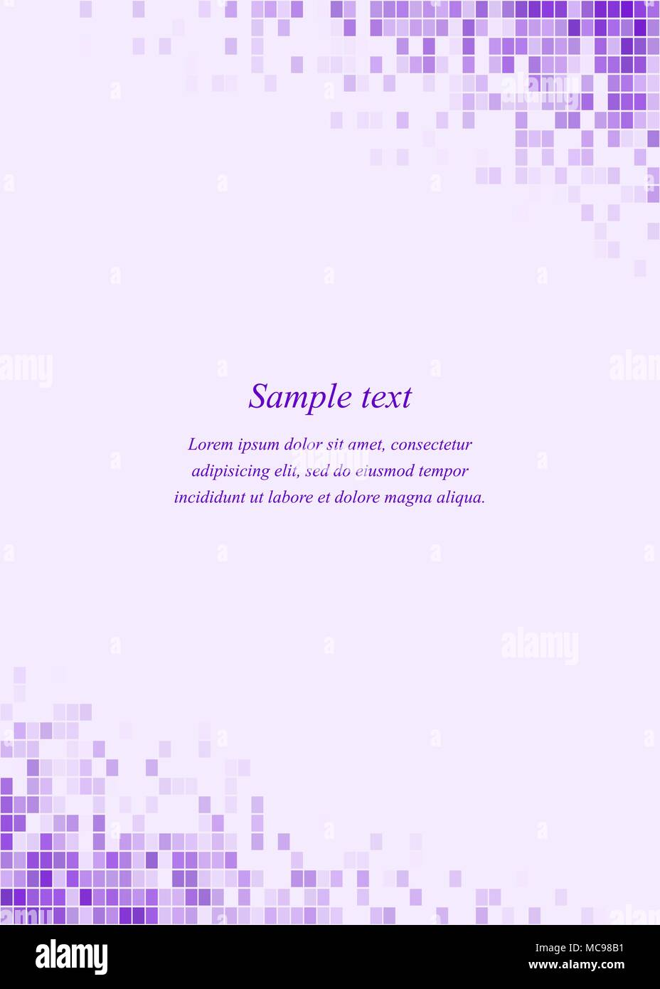 Purple page corner design template  - Stock Image