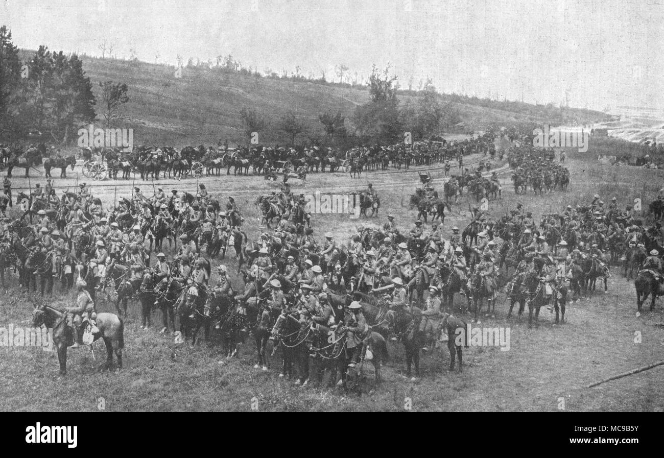 2nd Indian Cavalry Division during the Battle of the Somme. - Stock Image