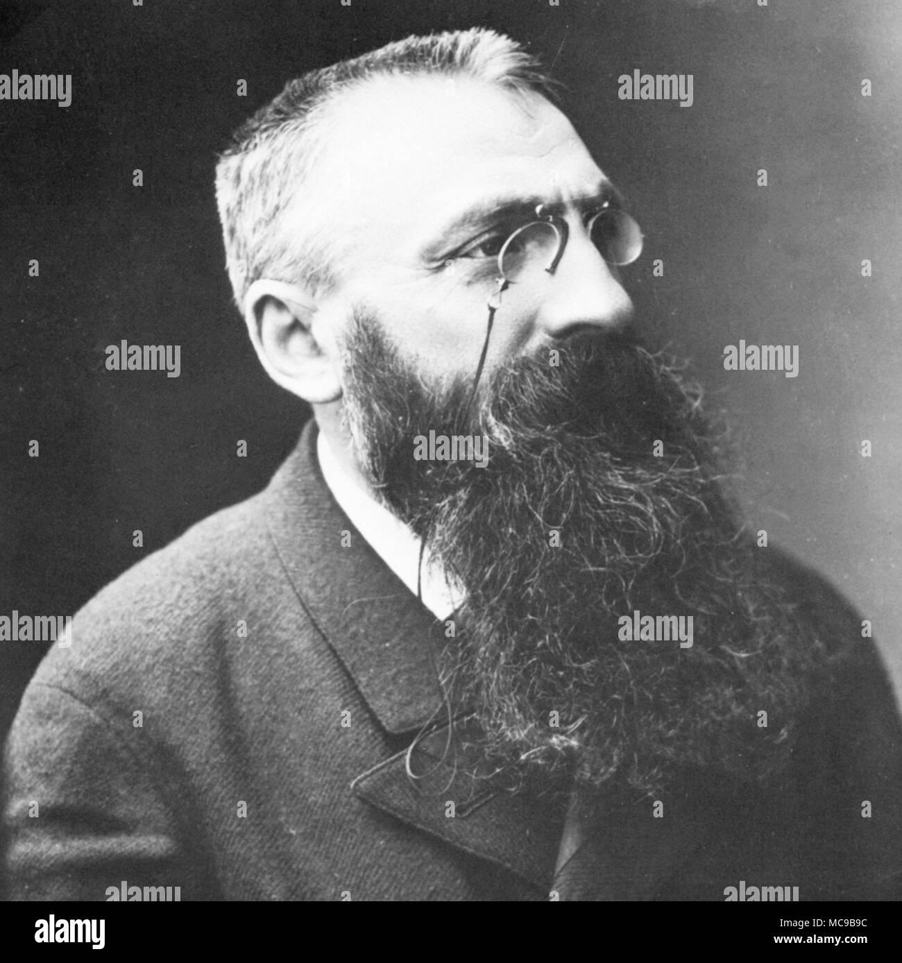 François Auguste René Rodin (1840 – 1917), Auguste Rodin, French sculptor. Stock Photo