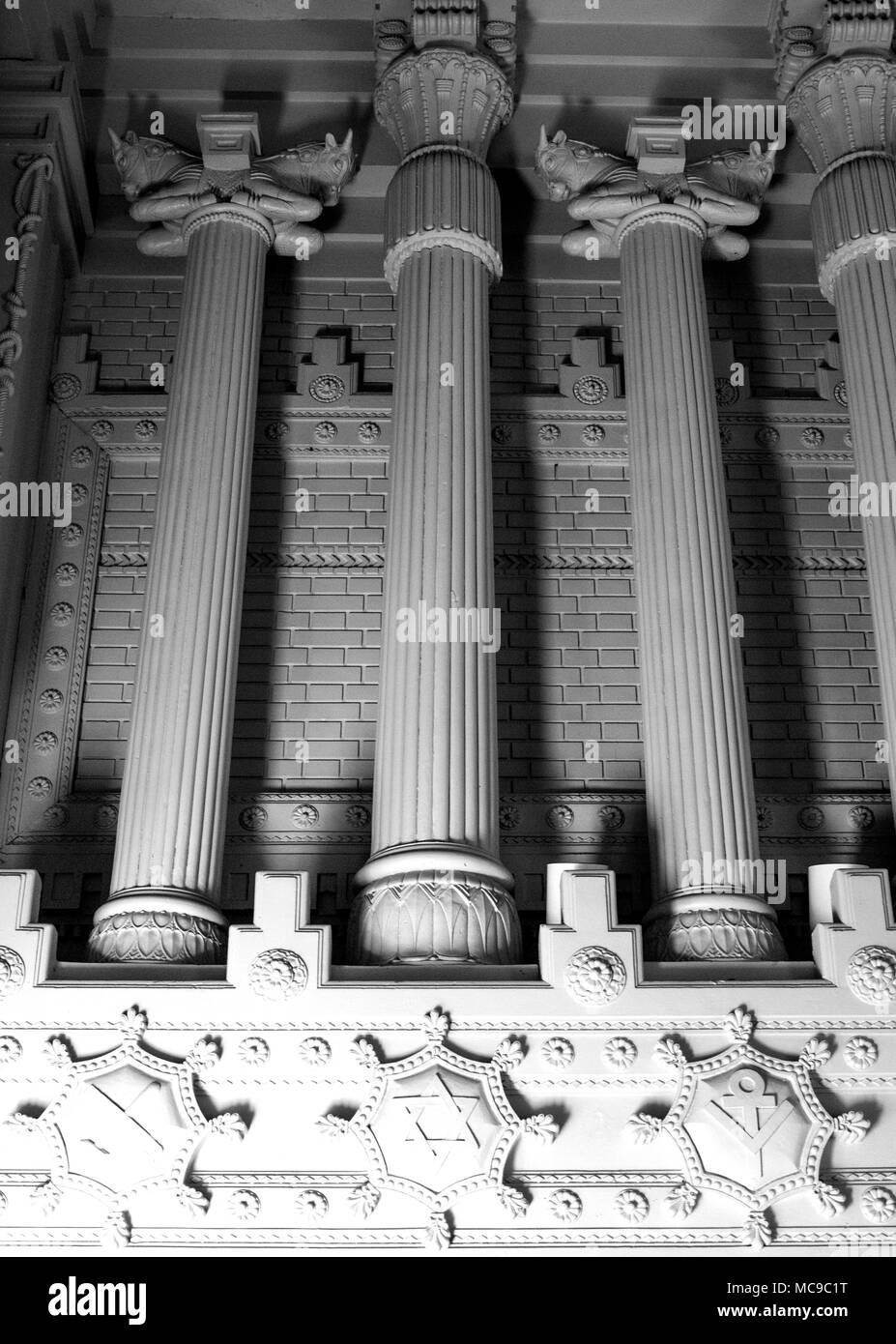 Interior detail of abandoned Masonic Temple at the Hotel