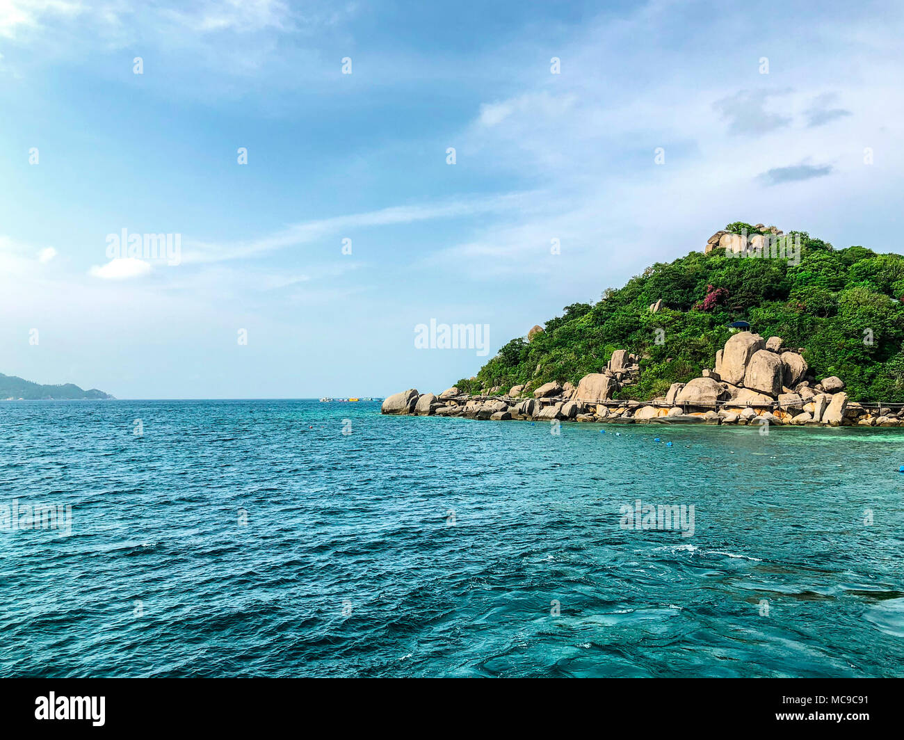 An Island Picture With Clear Sea Water Background. Image Picture   Stock  Image