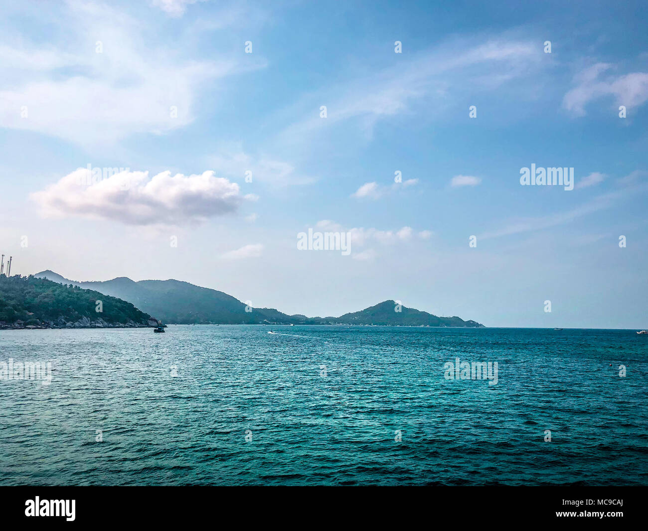 Clear sea water on sea side background. Image picture - Stock Image