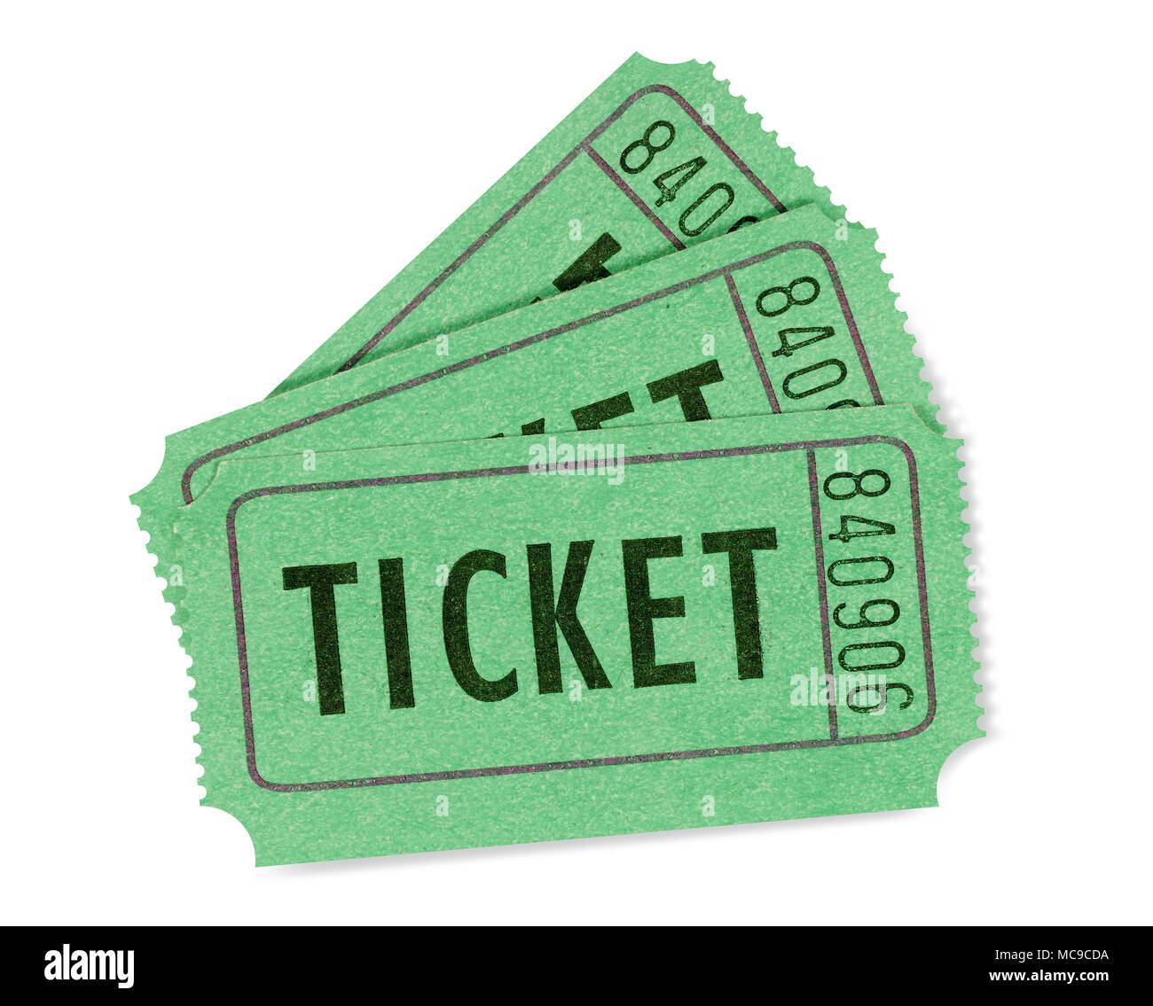 green cinema or raffle tickets stock photo 179686902 alamy