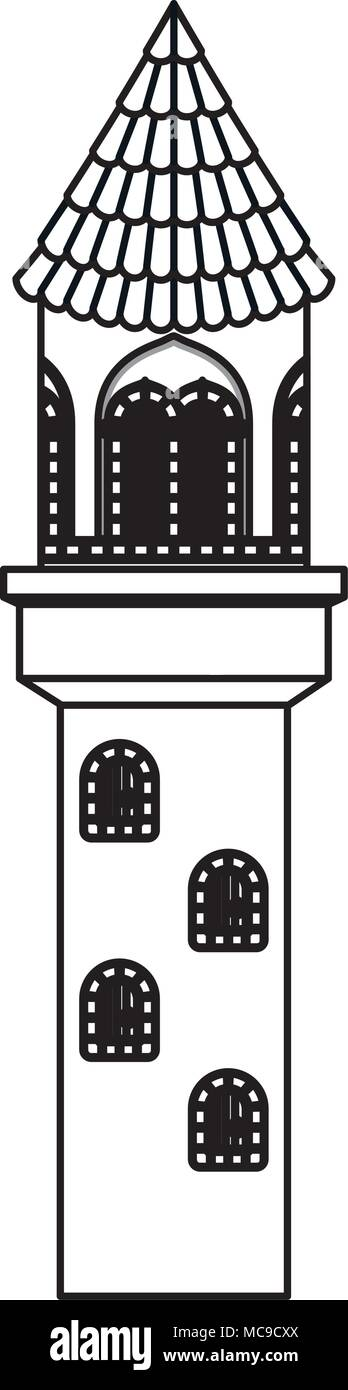 tower of medieval castle - Stock Vector