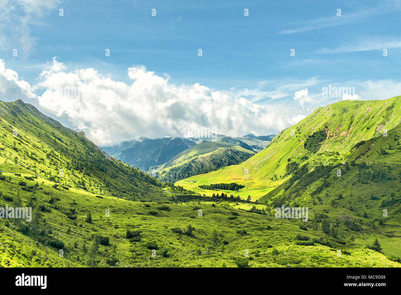 Beautiful view in Mount Gaver National Park, North Italy. Valsabbia, Brescia, Italy. - Stock Image