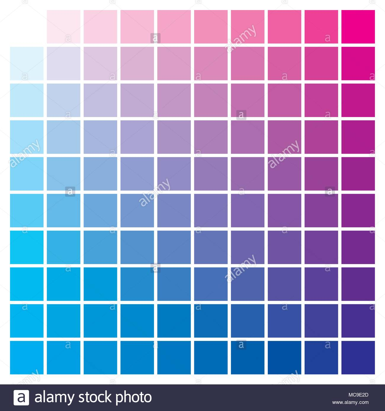 cmyk color chart to use in prepress and printing used to pick color