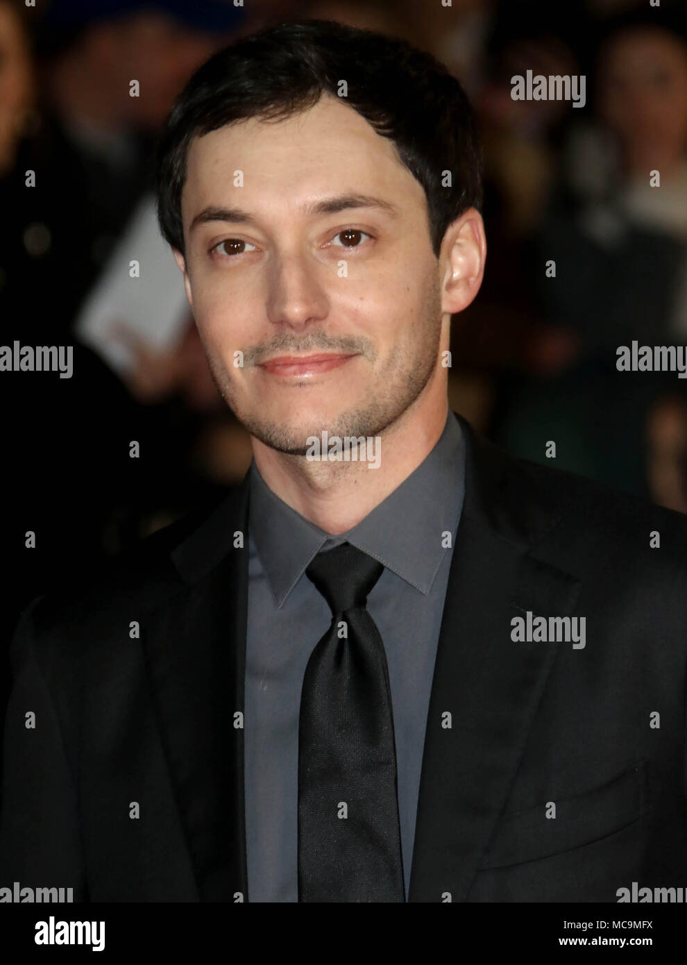 Jan 22, 2018 - Wes Ball attending The UK Fan Screening of 'Maze Runner: The Death Cure' at Vue Leicester Square in London, England, UK - Stock Image
