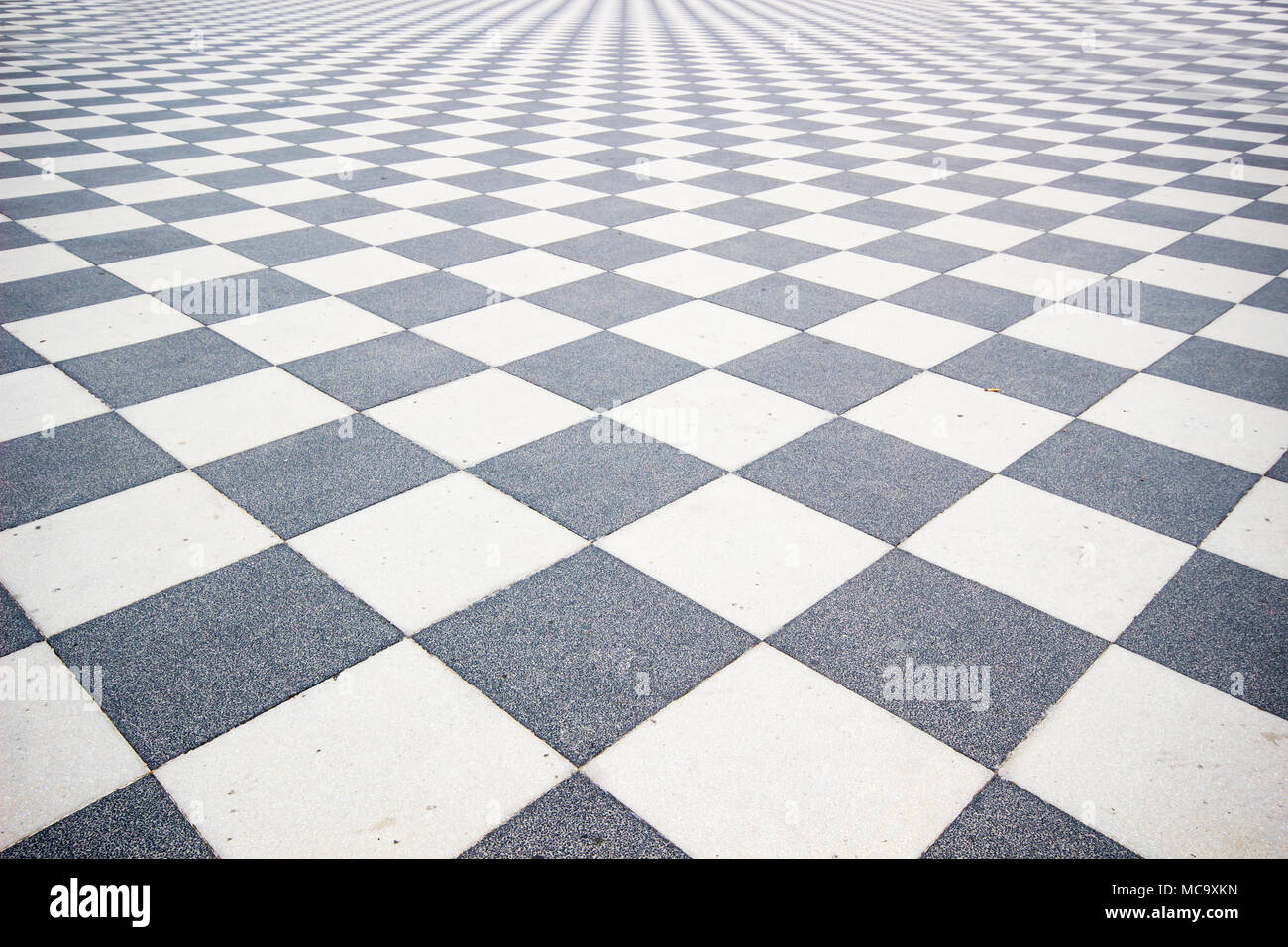 Black and White ceramic floor condition with grid line for ...