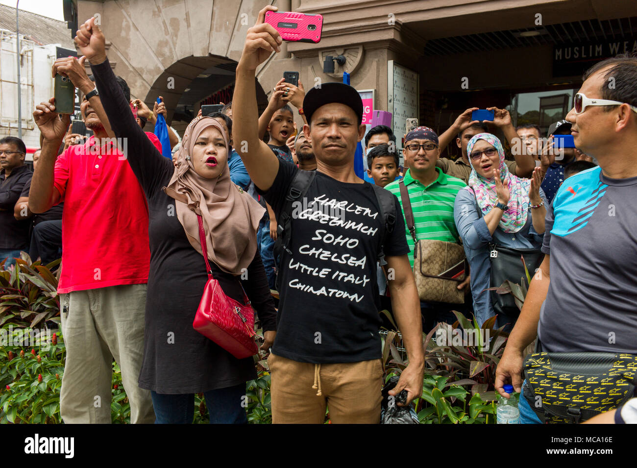 Hundreds Of Protesters Gathered In Kuala Lumpur Malaysia On April 14 2018 To Call For The Tangkaparrest Jho Low Malaysian Businessman Low Taek