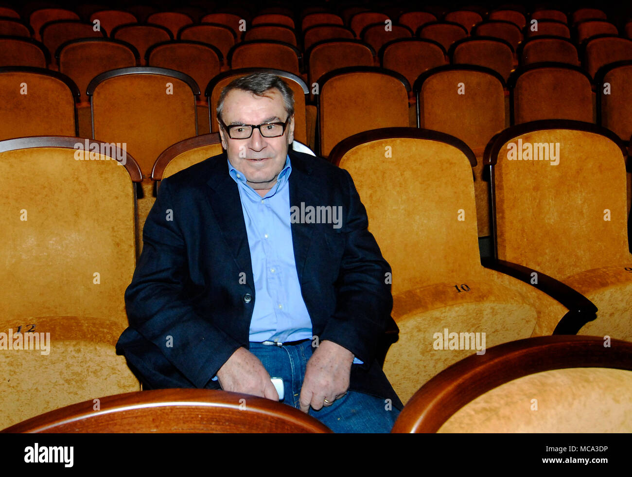 ***FILE PHOTO FROM OCTOBER 7, 2008*** Czech film director of Czech origin Milos Forman, who died at the age of 86 in the USA on Friday, was one of the biggest personalities of the Czech film 'New Wave' from the 1960s and the most successful Czech film maker who made his mark abroad.Forman was born on February 18, 1932, in Caslav, central Bohemia. Both of his parents died in a Nazi concentration camp during WWII.After the war, Forman attended a boarding school for wartime orphans and a grammar school in Podebrady, central Bohemia. Among his schoolmates were Havel and later film-maker Ivan Passe - Stock Image