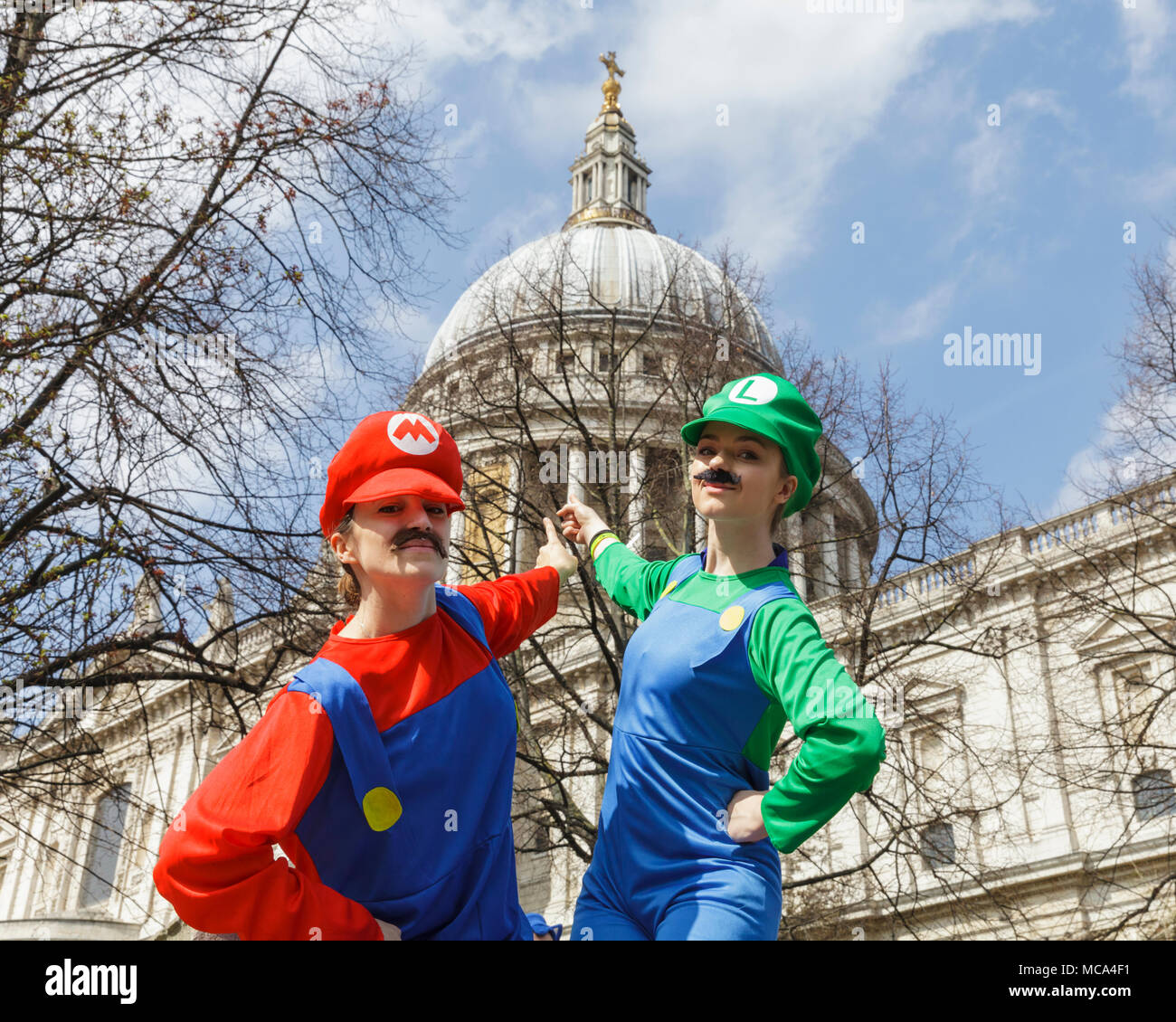 City Of London London 14th April 2018 The Super Mario Brothers