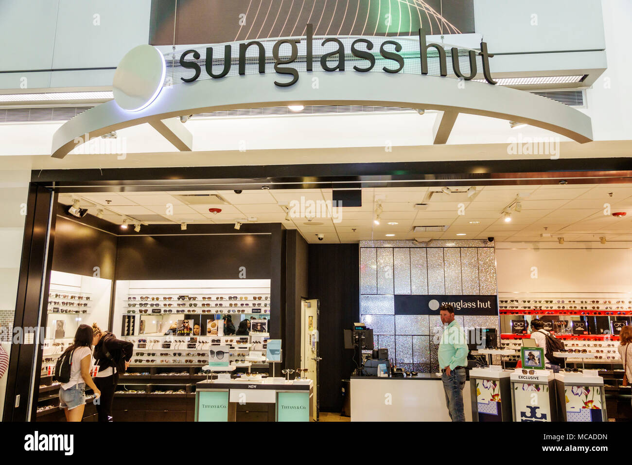 677966f97d0b9 Florida Miami Miami International Airport MIA store shopping Sunglass Hut  eyewear glasses man woman sign entrance