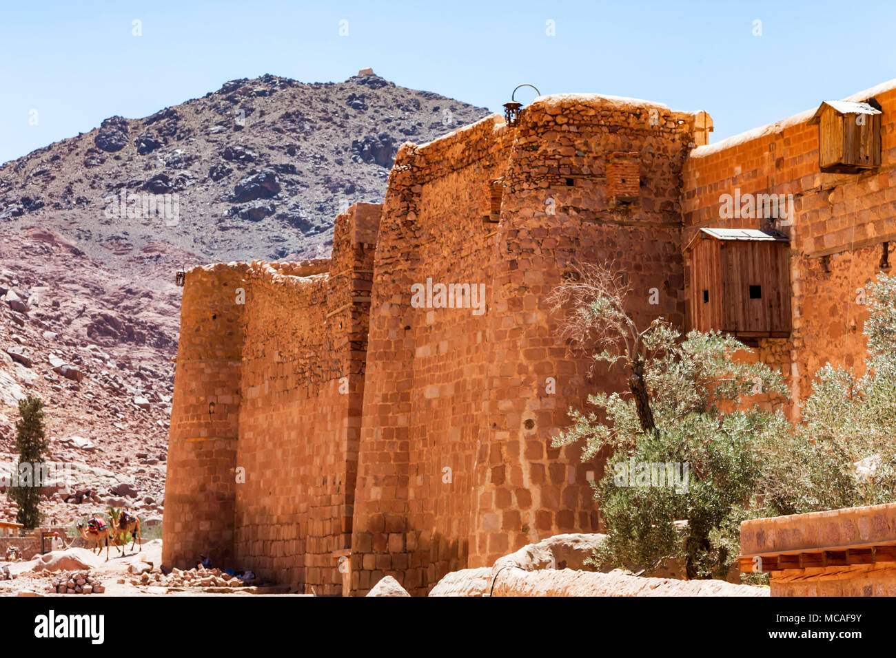 Wall of Saint Catherine's Monastery, Egypt - Stock Image