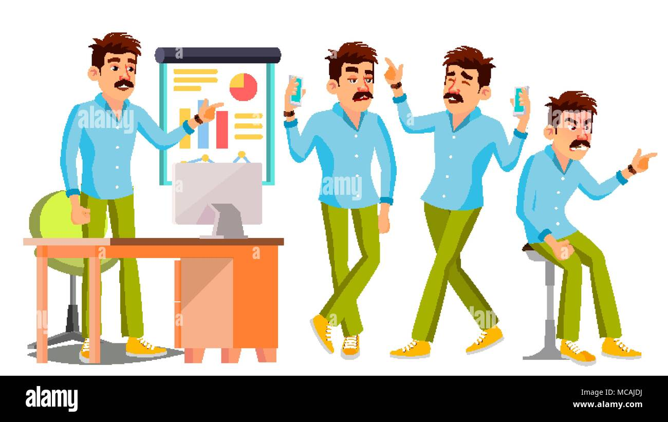 bed4ea603f9 Working Male. Environment Process. Start Up. Casual Clothes. Worker. Full  Length. Programmer