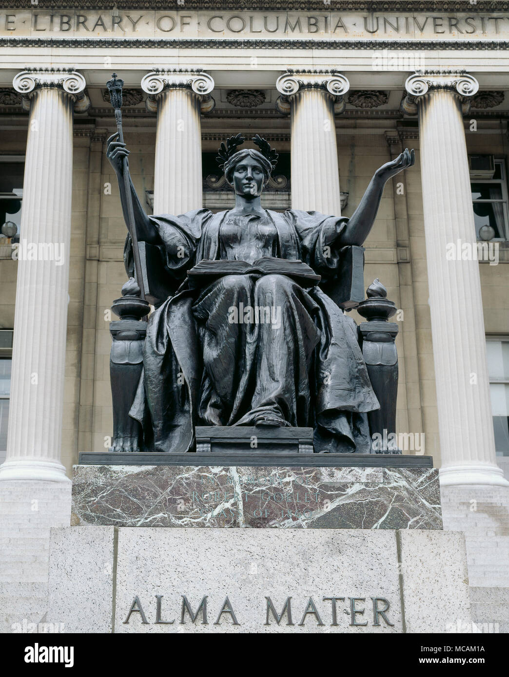 Alma Mater Is The Name Given To A Sculpture Of The Goddess Athena By