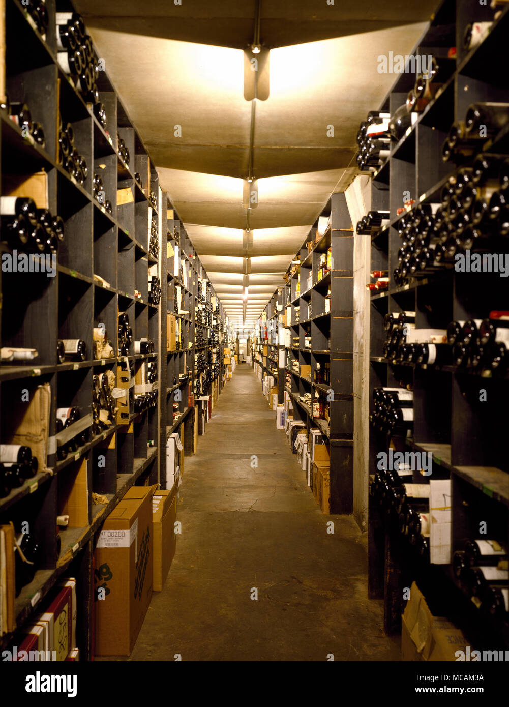 Wine cellar at venerable Antoine's Restaurant Stock Photo