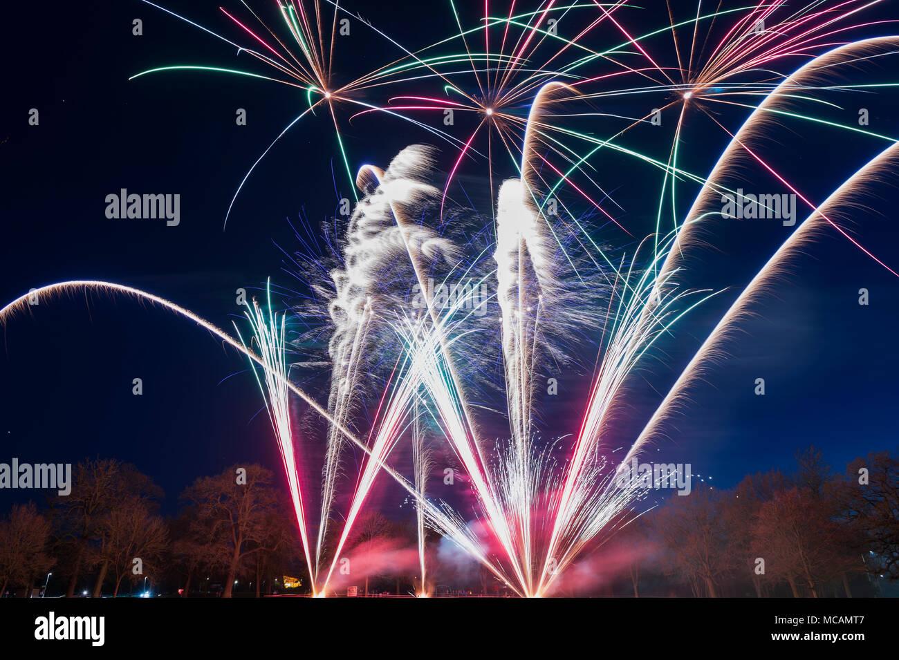 Fireworks At Carters Steam Fair April 2018 Reading Berkshire Uk
