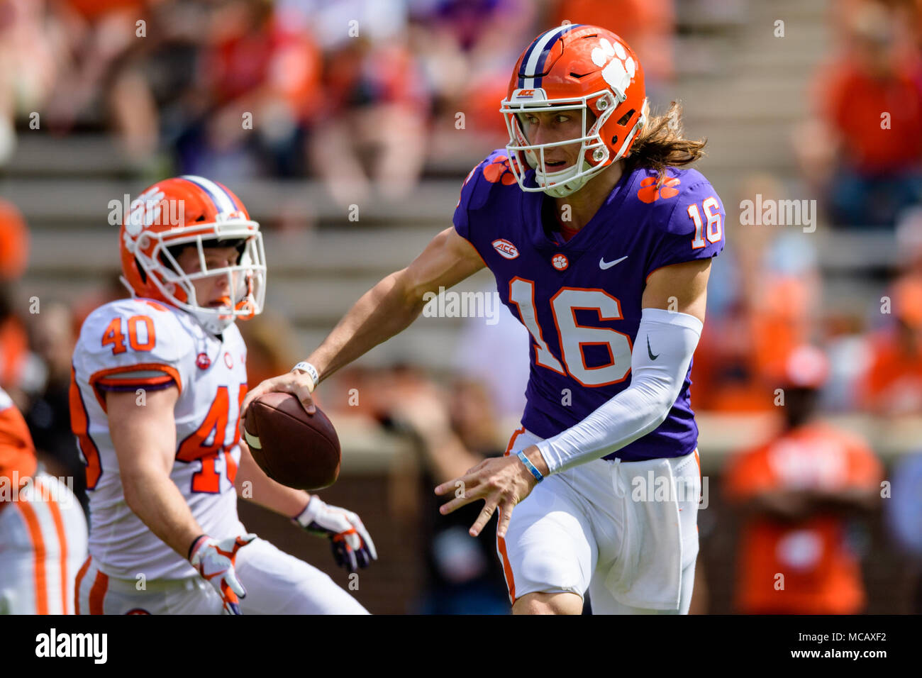 Clemson Qb Trevor Lawrence 16 During The Clemson Football
