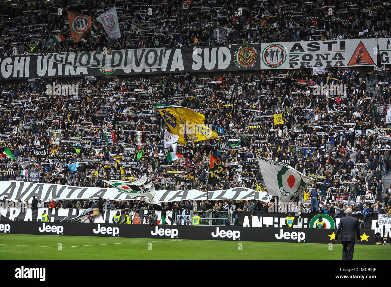 Turin, Italy. 15th Apr, 2018. during the Serie A football match between Juventus FC and UC Sampdoria at Allianz Stadium on 15 April, 2018 in Turin, Italy. Credit: FABIO PETROSINO/Alamy Live News Stock Photo