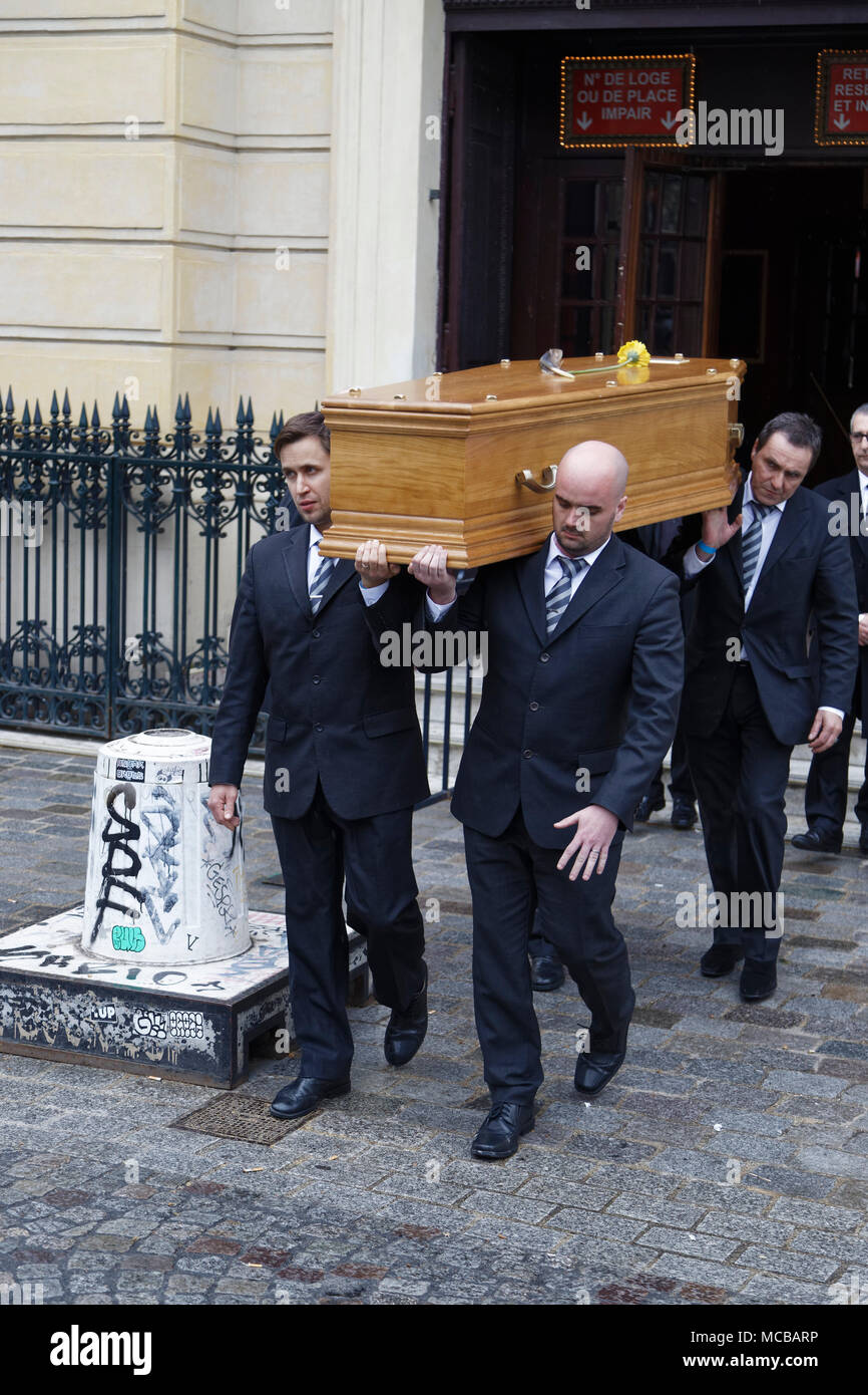 Paris, France. 12th Apr, 2018. Jacques Higelin funeral at the Cirque d'Hiver on April 12, 2018 in Paris, France. - Stock Image