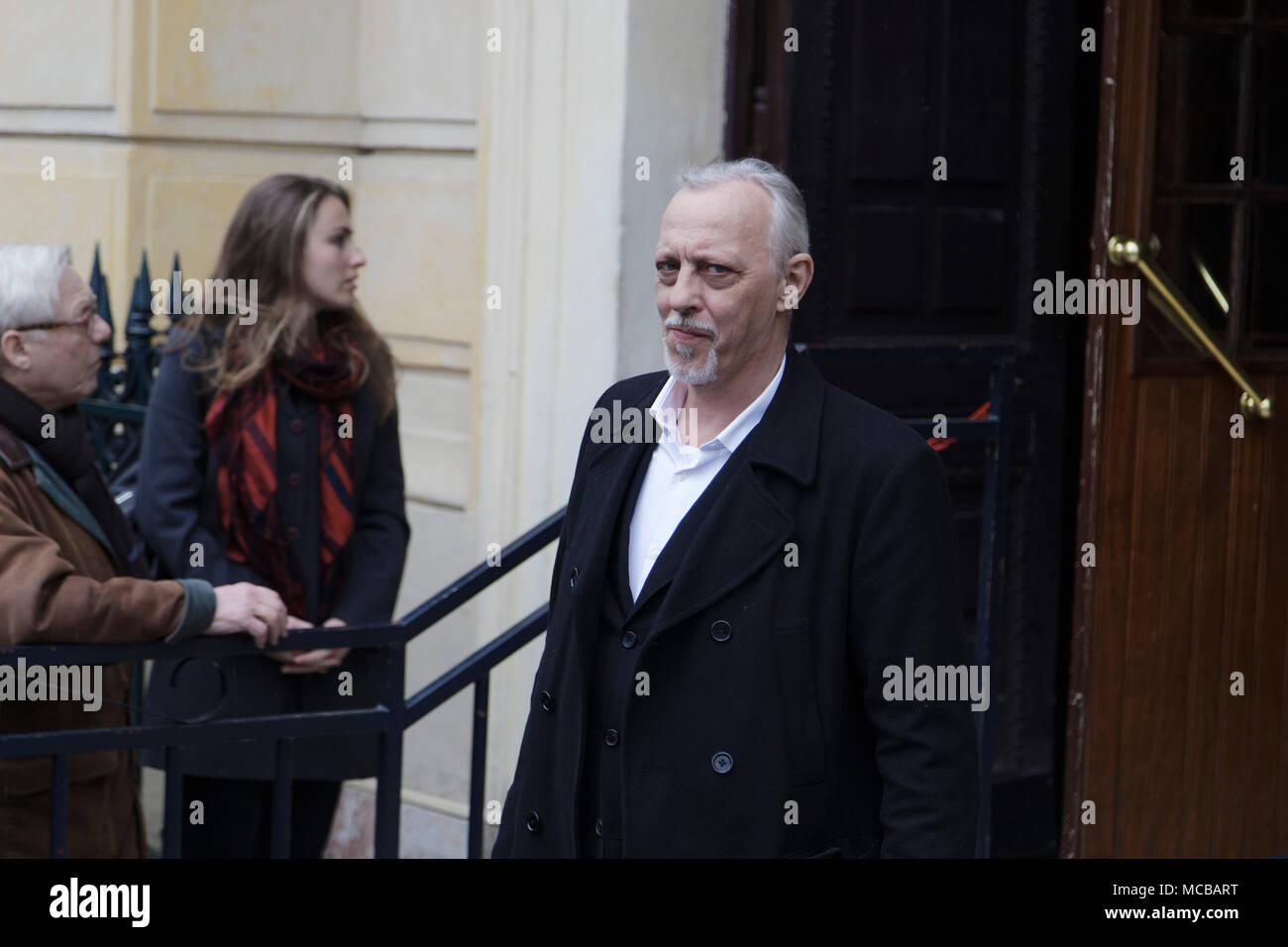 Paris, France. 12th Apr, 2018. Tom Novembre at the Jacques Higelin funeral at the Cirque d'Hiver on April 12, 2018 in Paris, France. - Stock Image