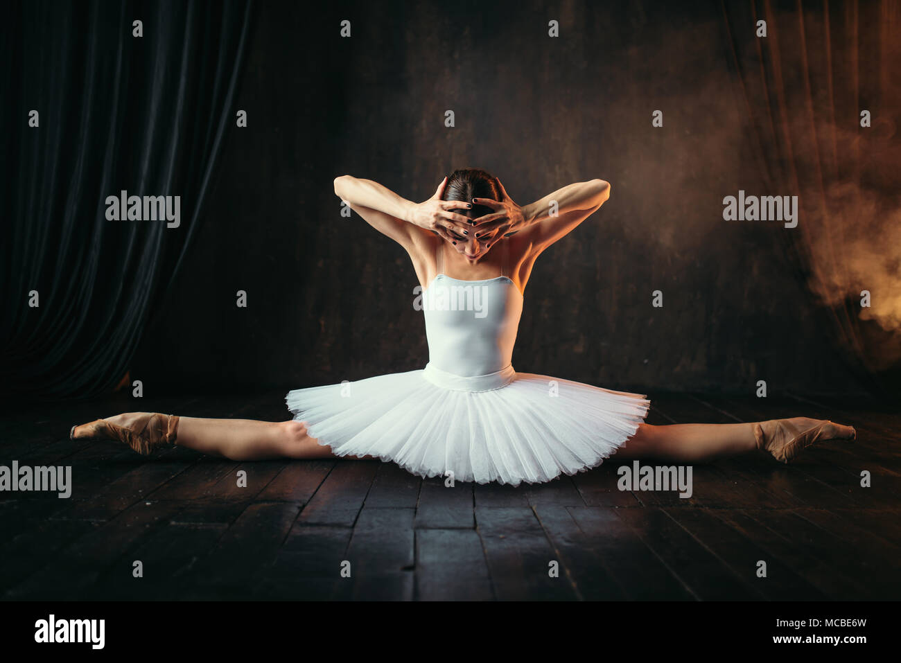 Body flexibility of ballet performer, stretching - Stock Image