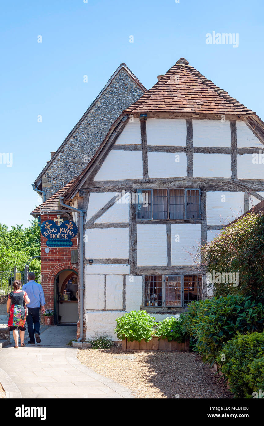 King John's House & Tudor Cottage, Church Street, Romsey, Hampshire, England, United Kingdom - Stock Image