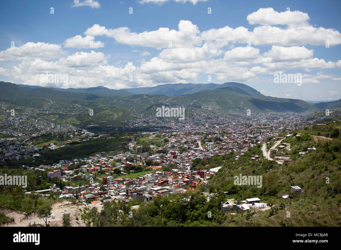 A view of Chilpancingo, Guerrero, Mexico on Saturday, July 26, 2015. The State of Guerrero has experienced a lot of violence, including the disappearance of 43 students last fall. - Stock Image
