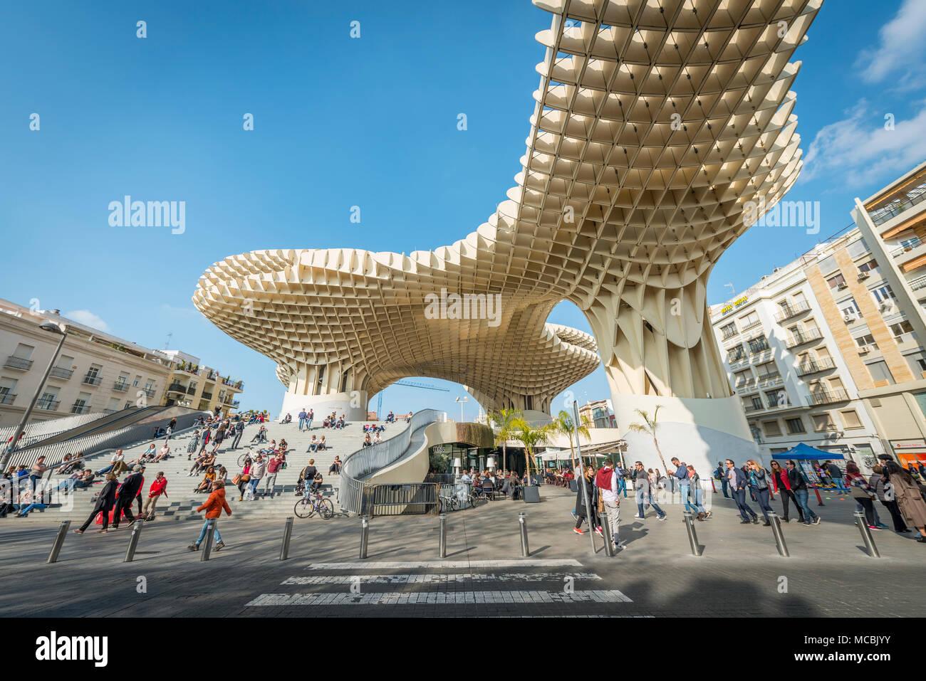 Metropol Parasol, Plaza de la Encarnacion, Seville, Andalusía, Spain - Stock Image