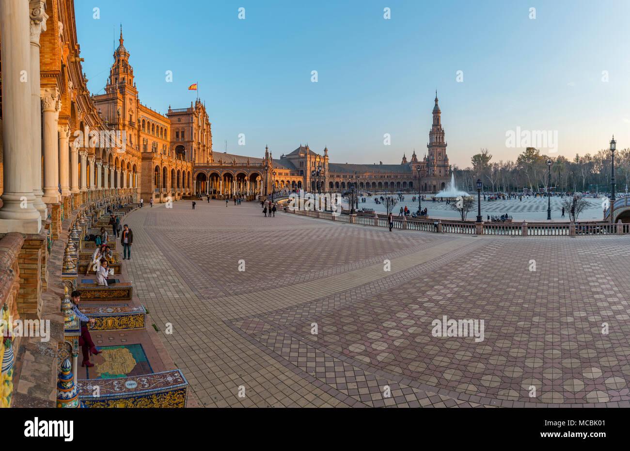 National Geographic Institute, Plaza de España, Seville, Spain - Stock Image