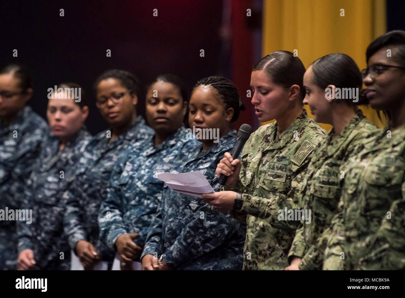 DIEGO (March 20, 2018) Aviation Ordnanceman 2nd Class Teresa