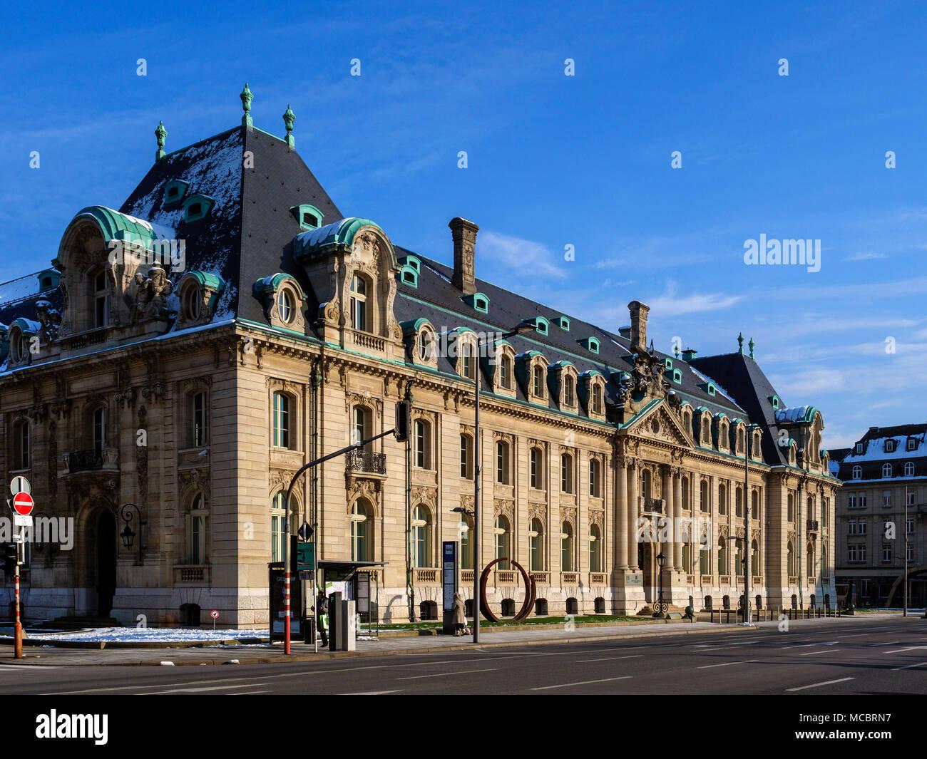 bank building, Avenue de la Libertè 19,  Luxembourg City, Europe - Stock Image