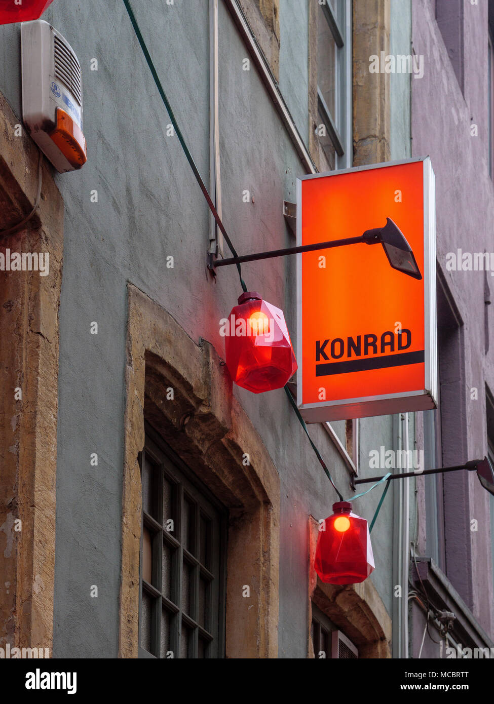 Boutiquebar Konrad 7 rue du Nord, Luxembourg City, Europe - Stock Image