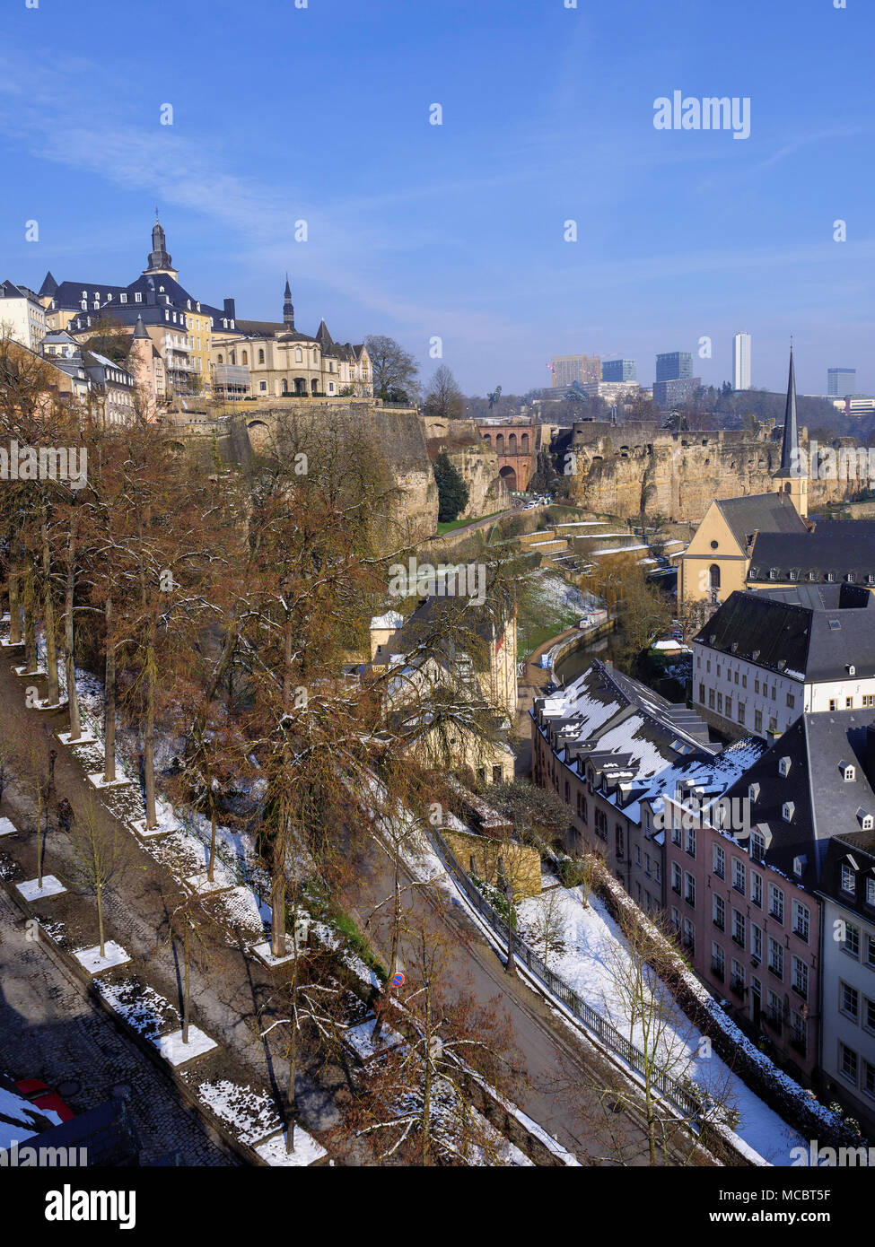 Hictoric city, Grand and European center, Luxembourg City, Europe, UNESCO Heritage - Stock Image