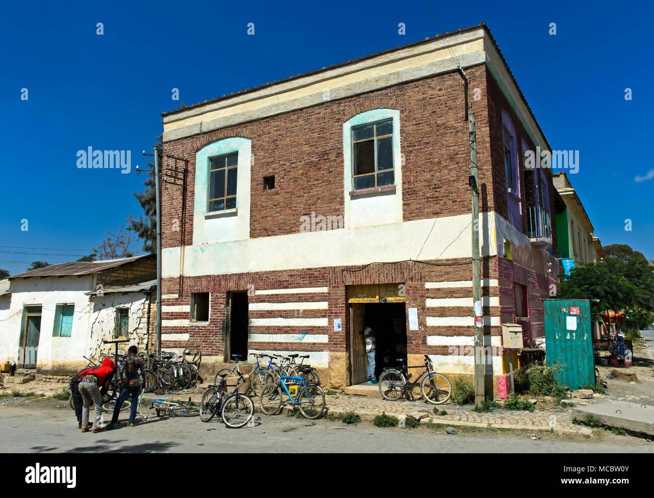 Postal office, Wukro, Tigray region, Ethiopia - Stock Image